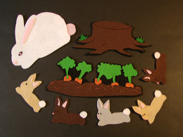 Felt Five Little Bunnies