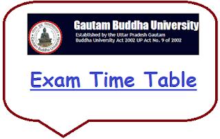 GBU Noida Date Sheet 2020