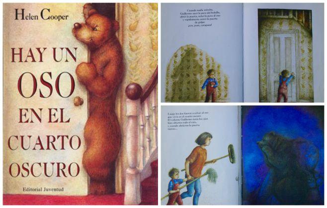 libro infantil superar miedo oscuridad: un osos cuarto oscuro