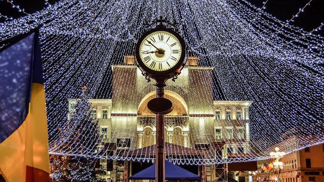 Spectacol de lumini in centrul Timisoarei. Galerie foto