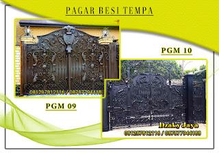 Katalog pintu gerbang besi tempa, pintu gerbang klasik mewah 09