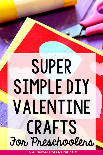 There are so many ways you can have kids be involved in Valentine's Day. Read on for some crazy simple DIY Valentine's Day Crafts for Preschoolers!