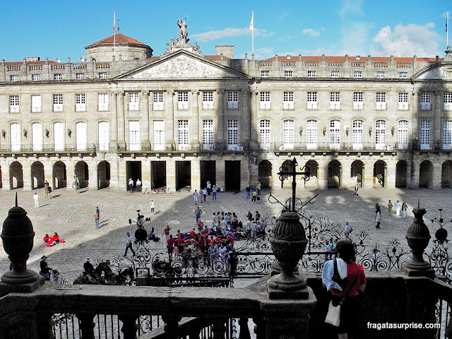 Praça do Obradoiro, em Santiago de Compostela, ponto de chegada do Caminho de Santiago