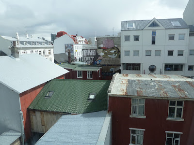 Reykjavik rooftops. Photo by Michael Ridpath, author of the Magnus series of crime novels.