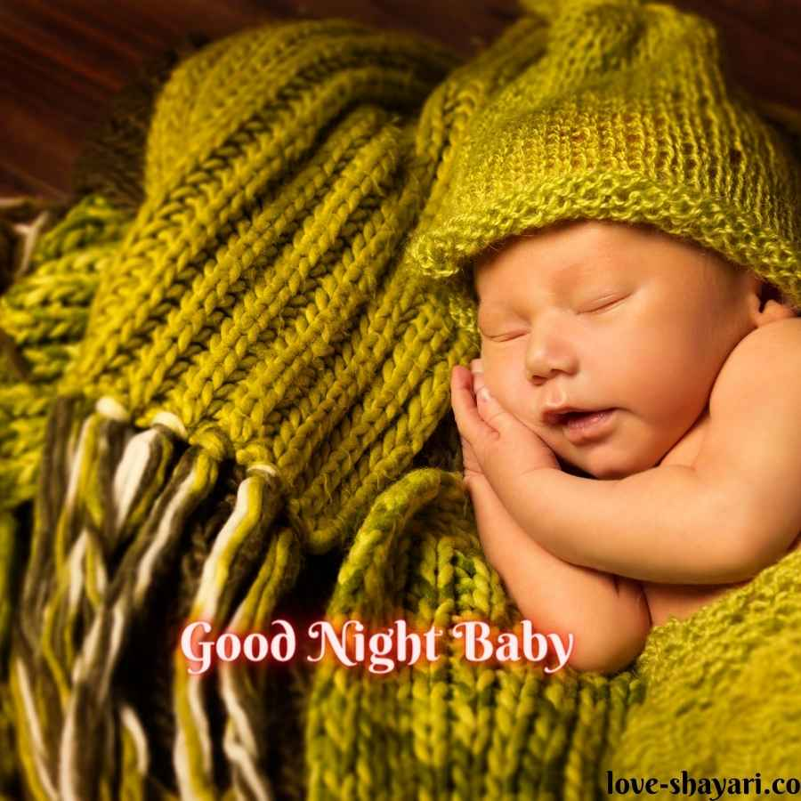 good night wishes with baby images