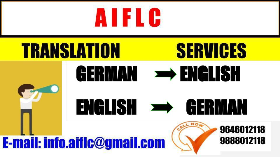 AIFLC: German Language Translator | Translation Service | Chandigarh