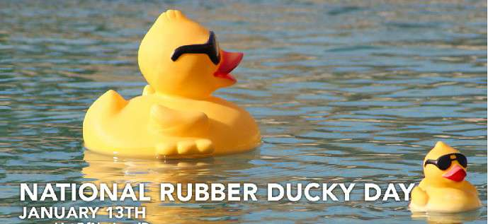 National Rubber Ducky Day Wishes for Instagram