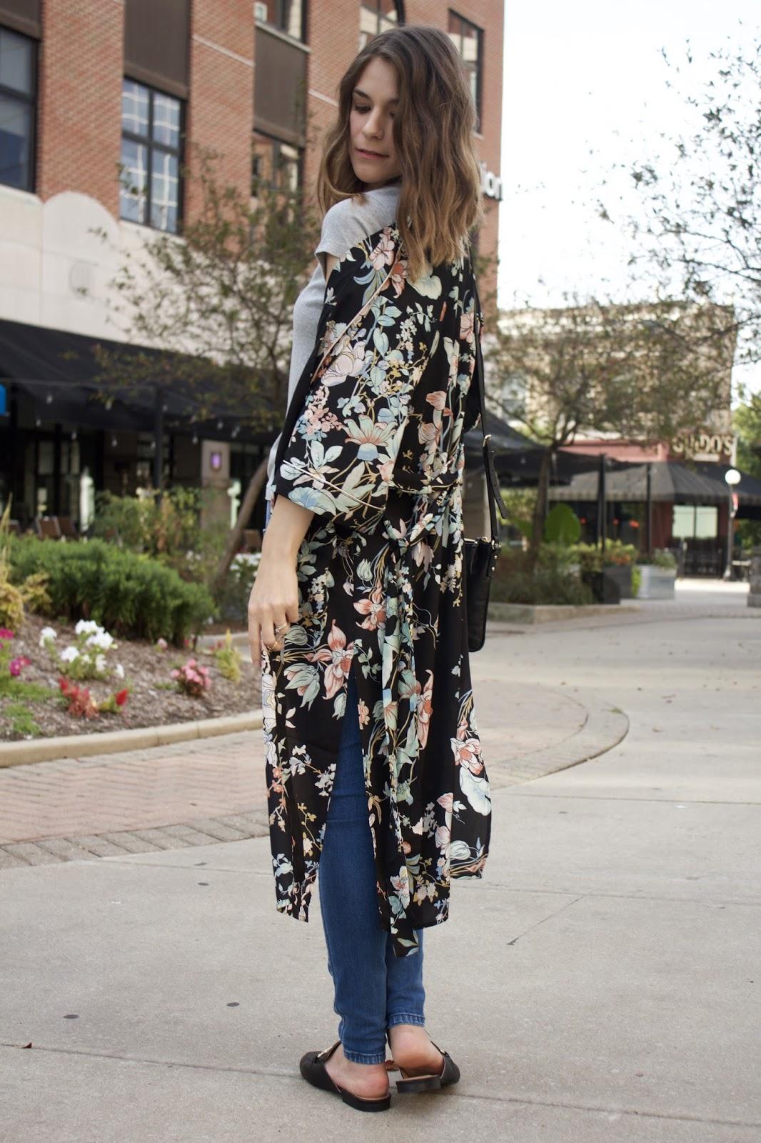 TJMaxx Floral Kimono