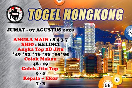 Mafia Prediksi Togel Hongkong HK Jumat 07 Agustus 2020