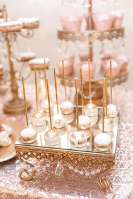 wedding cake pop and desserts