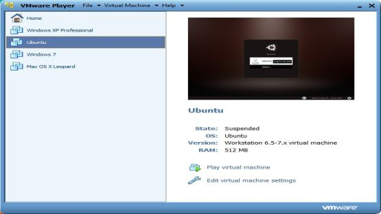 VMware Player screenshot 4