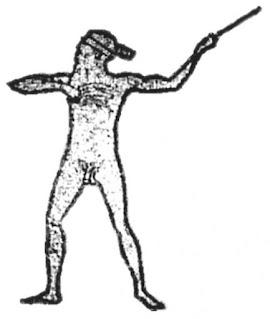 Un'illustrazione che mostra il profilo di Marree Man di Lisa Thurston, 2005.