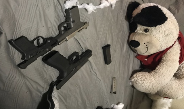 Teens allegedly stuffed teddy bear with loaded guns and weed