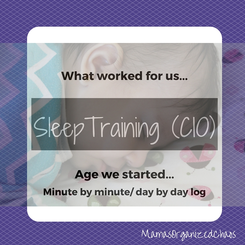 sleep training cry it out log with baby