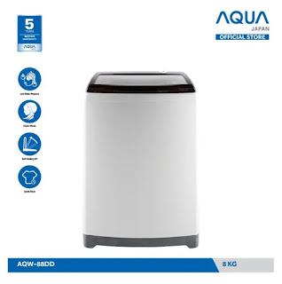 Aqua AQW 88DD rekomendasi mesin cuci satu tabung