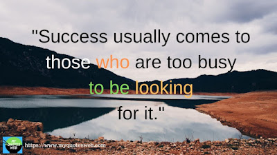 Amazing Success Quotes - Success usually comes