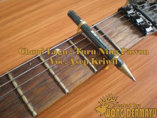 Chord Gitar Turu Ning Pawon - Asep Kriwil