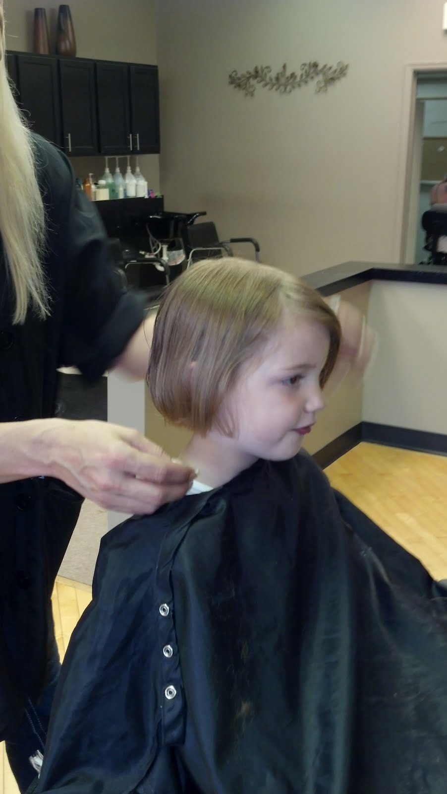 spiritual mothering: eliot gets a big girl hair cut