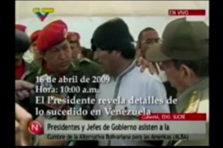 Morales admitiendo que dio la orden para intervenir el Hotel Las Américas el 16 de abril de 2009 / CAPTURA VTV