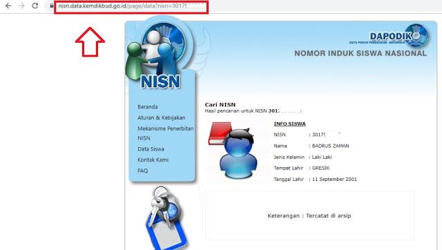 Cara Mengecek Tingkat Kevalidan NISN Siswa