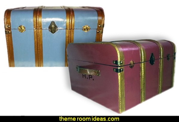 Hogwarts House Trunk- GRYFFINDOR RED  - RAVENCLAW BLUE