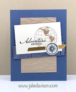 Stampin' Creative Global Blog Hop: Stampin' Up! Beautiful World Card #stampinup ~ www.juliedavison.com