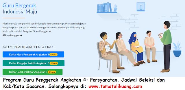syarat jadwal pendaftaran pengajar praktik program guru penggerak pgp angkatan 4 kemendikbud tomatalikuang.com