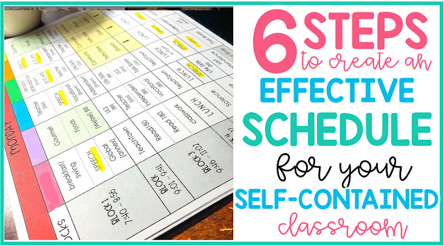 6 steps to create an effective schedule for your self contained classroom