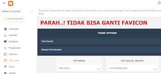 Bikin Ribet! Tampilan Dashboard Blogger Terbaru Tidak Bisa Ganti Favicon Blog