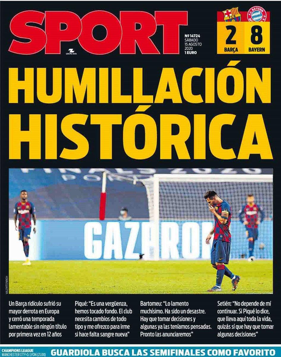 """صحيفة """" سبورت """" الإسبانية"""