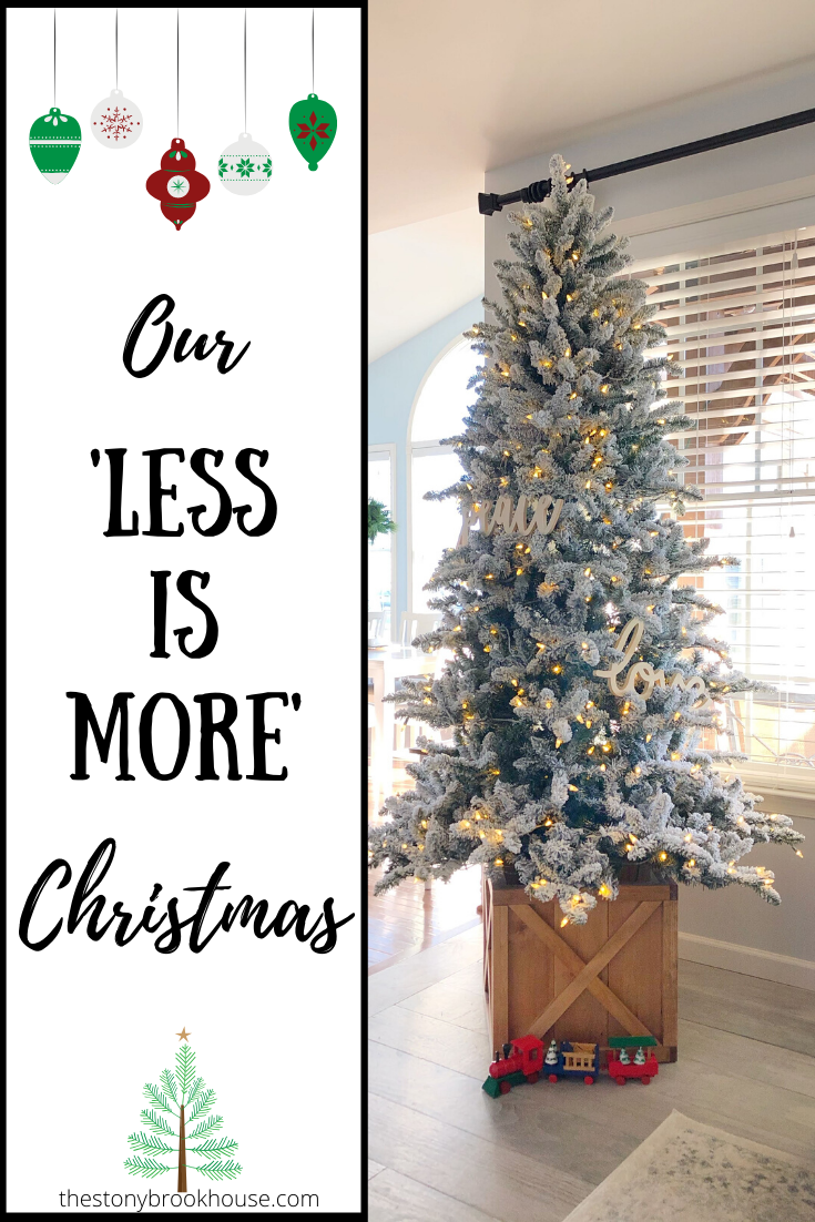 Our 'Less Is More' Christmas