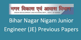 Bihar Nagar Nigam Junior Engineer (JE) Previous Question Papers and Syllabus 2020 PDF