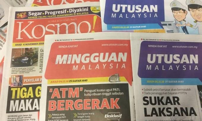 Utusan Melayu Sah Tutup 9 Oktober 2019
