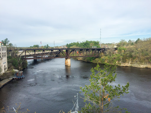 View of the Wisconsin River from the Wisconsin Dells Riverwalk