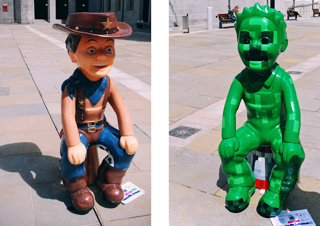 Cowboy and Minecraft - Oor Wullie Bucket Trail Aberdeen