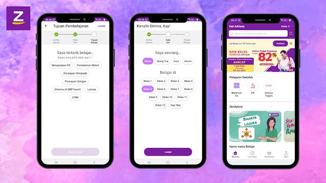 Cara mendaftar aplikasi zenius gratis