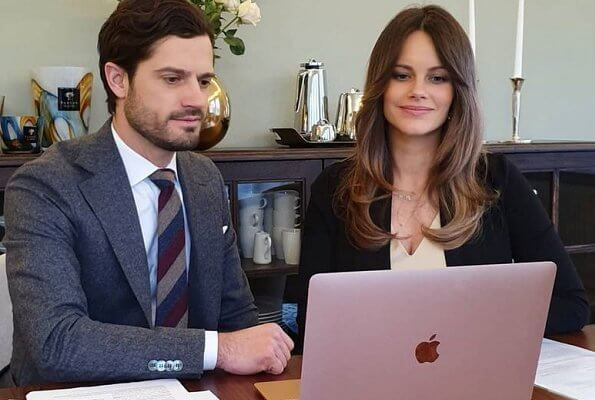 Swedish Institute for Educational Research. Princess Sofia wore a v-neck ivory dress and black jumper