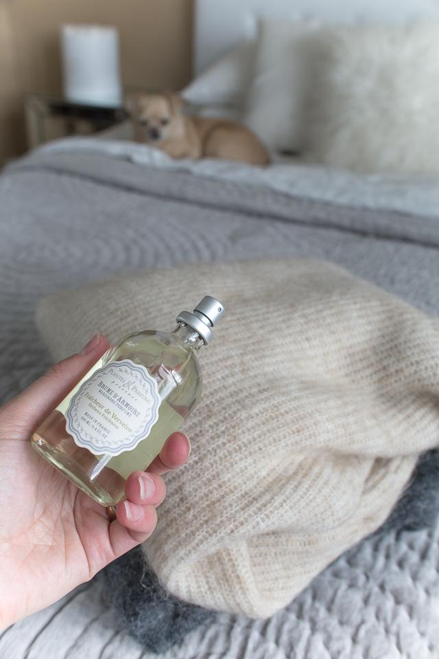Villa H, Plantes&Parfums Provencen tekstiilisuihke, makuuhuone, vaatehuolto