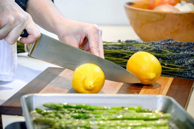 Making Lavender Lemon Asparagus Recipe - vegan recipe