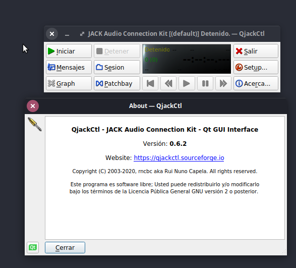 QJACKCTL La mejor alternativa a ASIO4ALL para Linux