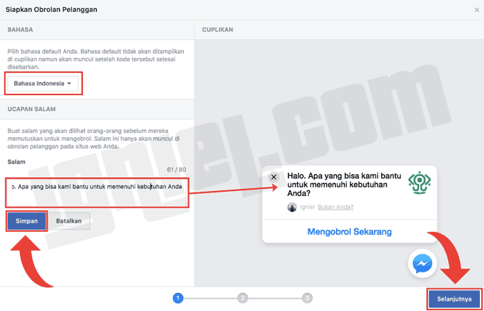 Cara Membuat Widget Chat ke Messenger Facebook di Blogspot