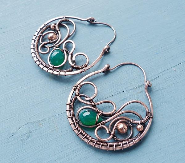 Beautiful Wire Wred Hoop Earrings Tutorial