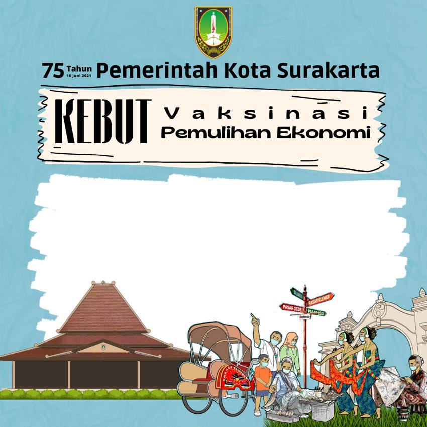 Template Desain Bingkai Twibbon 75 Tahun Pemerintah Kota Surakarta Tahun 2021 - Twibbonize