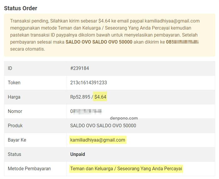 halaman status order