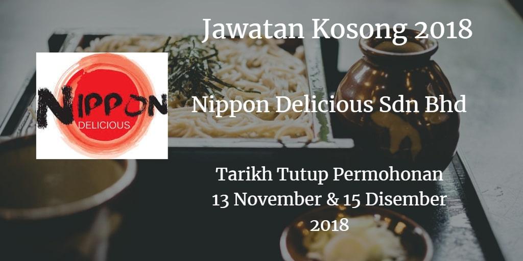Jawatan Kosong Nippon Delicious Sdn Bhd 13 & 15 Disember 2018