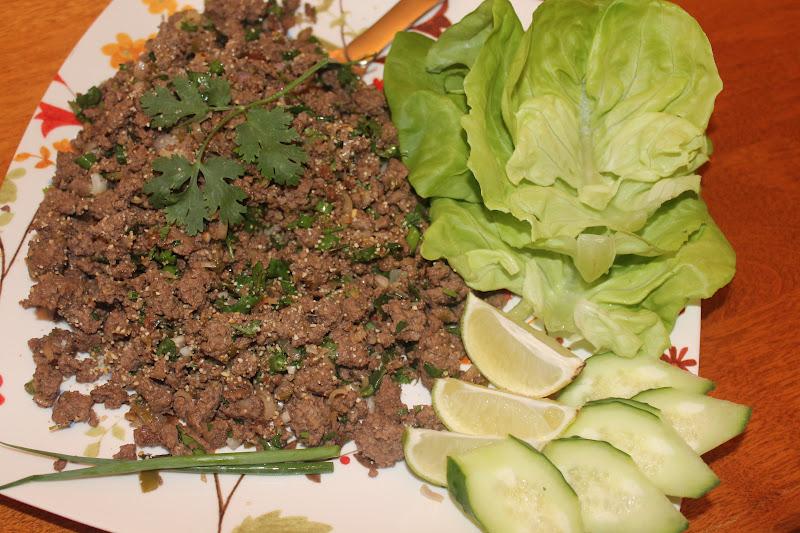 Savory Moments: Larb (Lao beef salad)