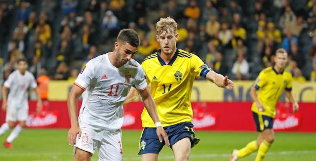 ملخص واهداف مباراة اسبانيا والسويد (1-2) تصفيات كأس العالم