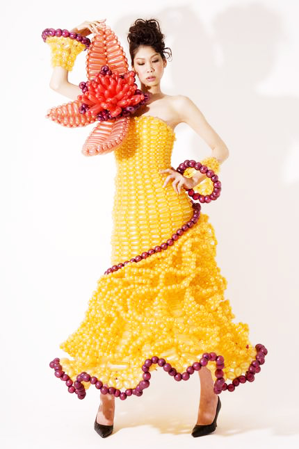 Magnificent Yellow Wedding Dress Balloon - Wedding Dress