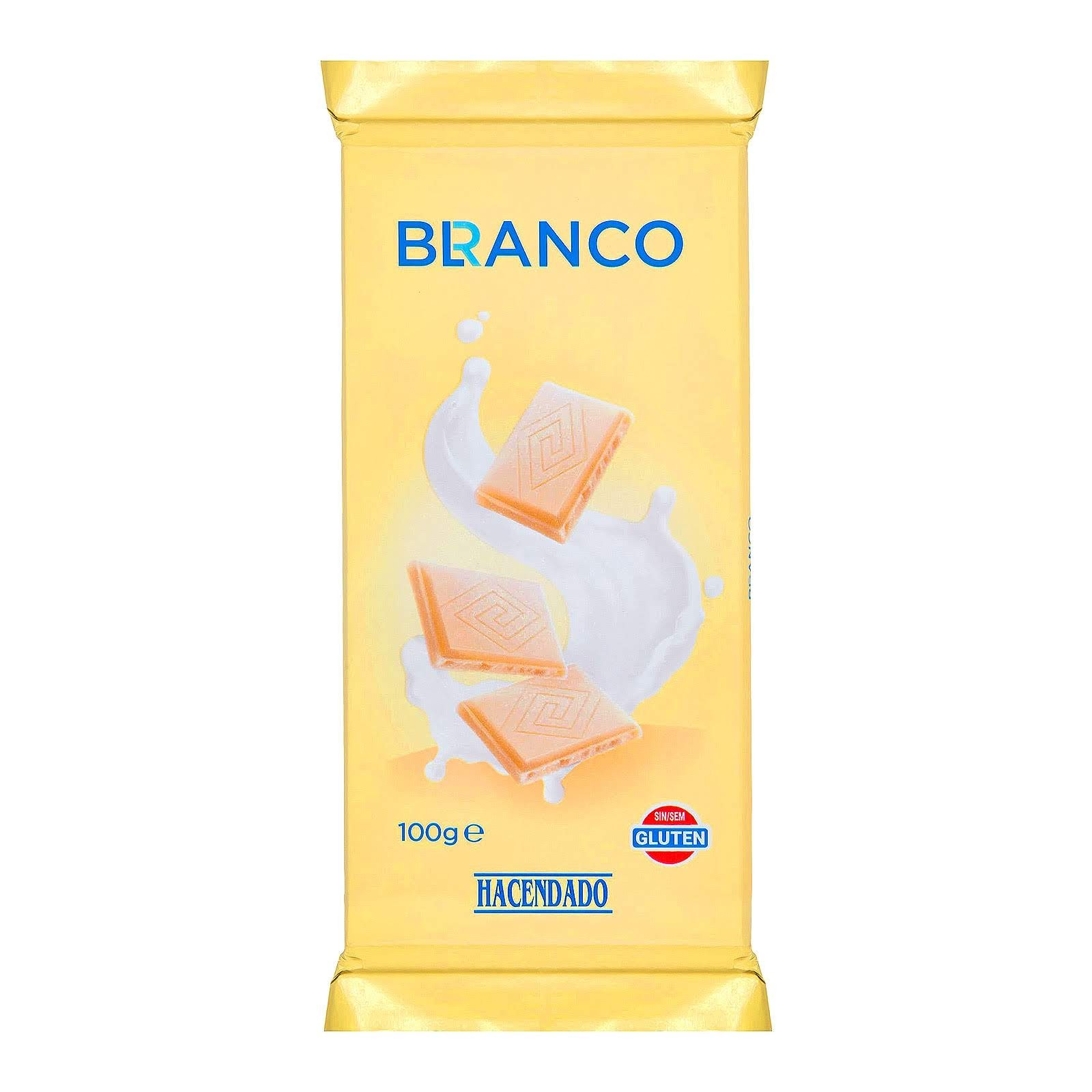 Chocolate blanco Hacendado