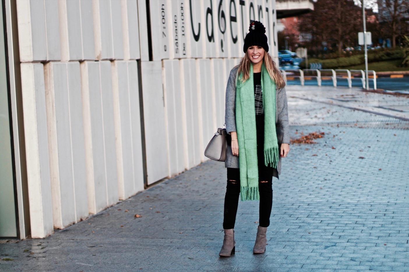 bufanda color verde